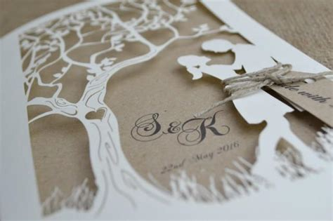 Laser Cut Wedding Invitation Rustic Wedding Invitation Laser Cut Tree Wedding Invitation Tree Wedding Invitations Templates