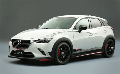 nissan mazda mazda cx 3 racing concept takes on the nissan juke nismo rs