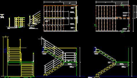 escaleras en corte frontal planos de casas planos de construccion