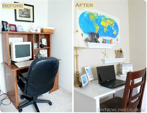 Computer Desk Makeover by Diy Newlyweds Diy Home Decorating Ideas Projects Diy Craft And Office Desk Makeover