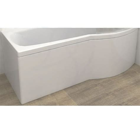 carron delta shower bath curved front panel   mm