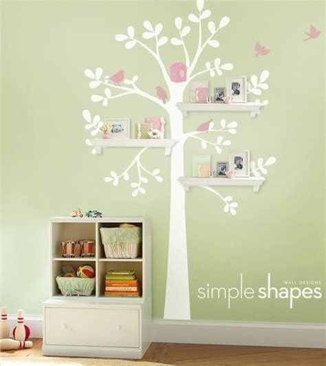 Wall Decor Nursery Wall Decor And Shelving Tree Baby Nursery Home Lilys Design Ideas