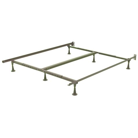 ca king bed frames ca king size metal bed frame with wide stance glide legs