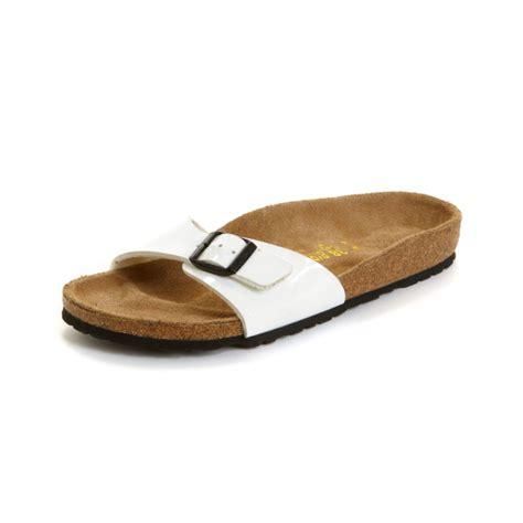birkenstock designer sandals birkenstock madrid sandals in white bright white patent