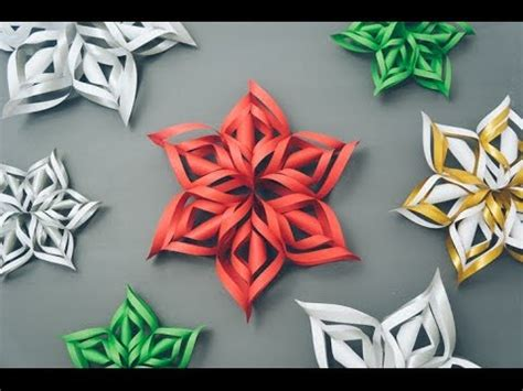 How To Make 3d Snowflakes Out Of Construction Paper - 3d paper snowflake tutorial