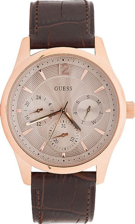 Guess W0475g2 Asset guess s multifunction gold brown leather w0475g2 skroutz gr
