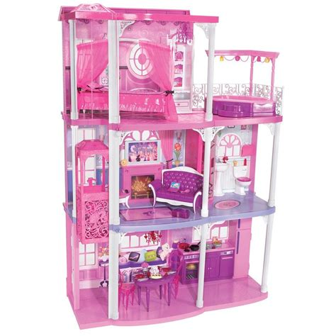 barbie dreamhouse barbie pink 3 story dream townhouse