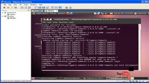 tutorial hamachi linux logmein ubuntu youtube