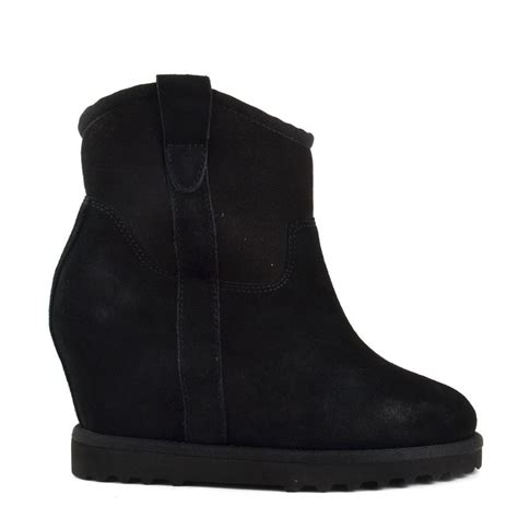 ash yakoo bis black suede wedge ankle boots