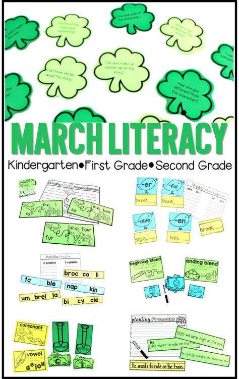 kindergarten activities march literacy activities for march tunstall s teaching tidbits