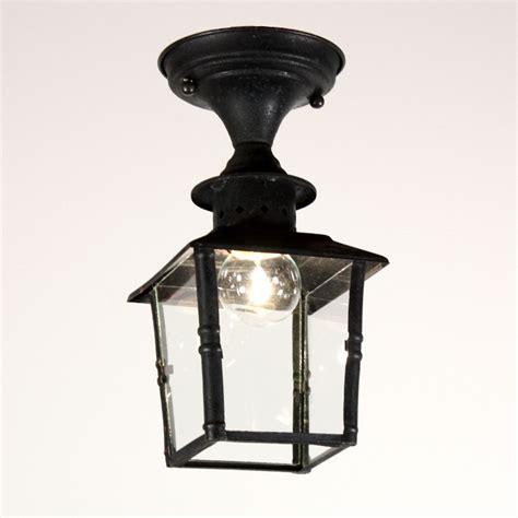 1930s Outdoor Lighting Antique Copper Exterior Lantern Flush Mount Fixture C 1930s Nc1373 Rw For Sale