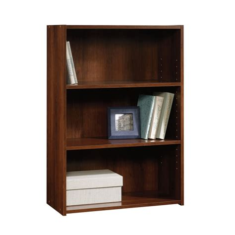 Sauder Beginnings 3 Shelf Bookcase In Brook Cherry 416438 Sauder Beginnings 3 Shelf Bookcase