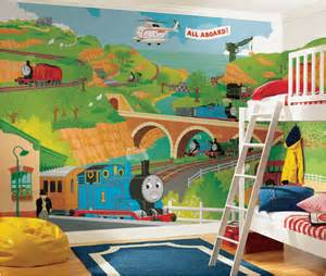 Thomas The Tank Wall Mural Boys Transportation Bedrooms Room Design Ideas