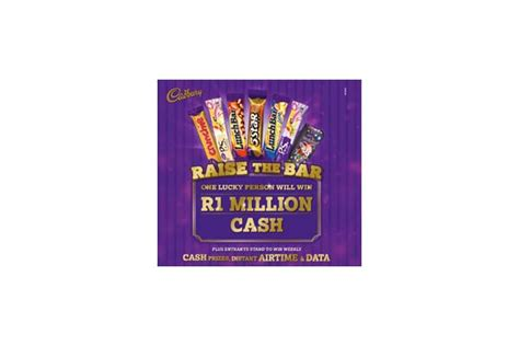 Win Instant Airtime Online - raise the bar with cadbury for a chance to win r1 million