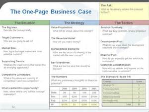 Simple Business Case Template Excel Gallery For Gt One Page Business Case Template