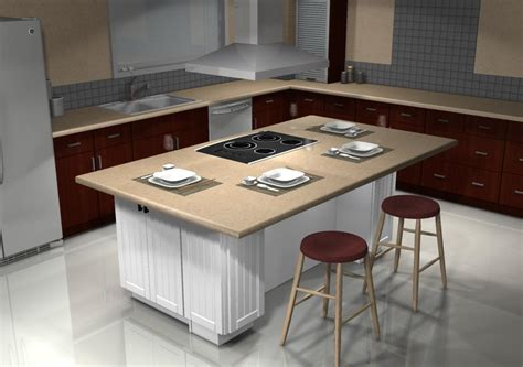 a japanese restaurant inspired kitchen island