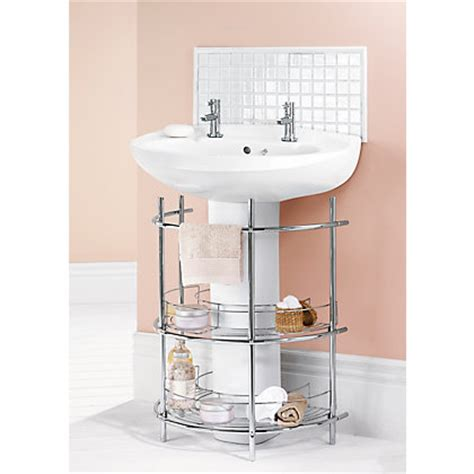 the sink 2 tier bathroom storage unit chrome