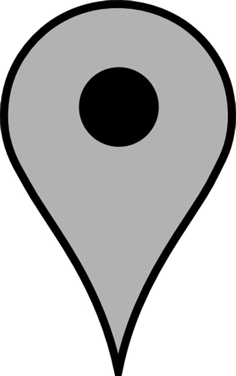 Map Pin Gray Clip Art at Clker.com - vector clip art