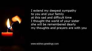 Comforting Words For Sick Family Member Sympathy Words For Death Of Sister Condolence Messages Funeral