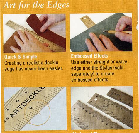 How To Make Deckle Edge Paper - edge deckle for tearing and embossing