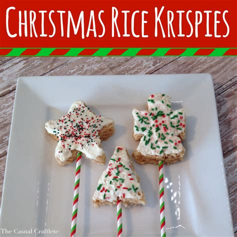 christmas rice krispies dipped in white chocolate the casual craftlete a creative blog by