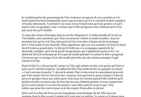 La Haine Essay by La Haine Quels Sont Les Thmes Principaux Du A Level Modern Foreign Languages Marked