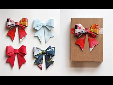 Easy Origami Things - paper bow origami easy origami papermade things