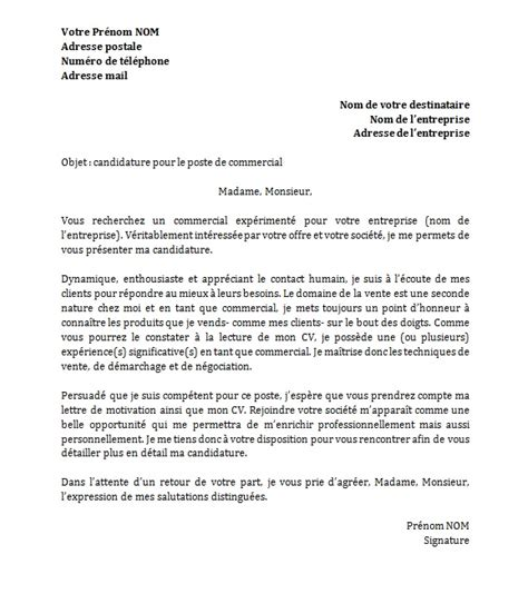 Exemple De Lettre De Motivation Pour Faire Un Stage Modele Lettre De Motivation Pour 1 Emploi Document