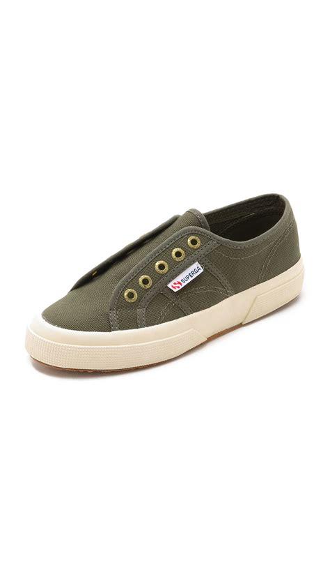 Slip On Pita Flatshoes Green Army superga 2750 cotu slip on sneakers green in green lyst