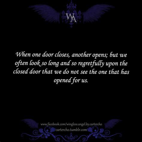 One Door Closes Quotes by When One Door Closes Another Door Opens But We So Often