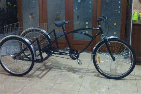 Sepeda Keranjang Dewasa sepeda roda tiga cruiser dewasa
