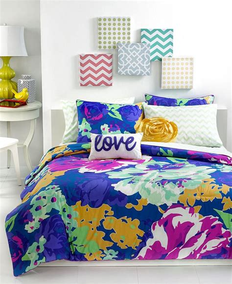 macys teen bedding teen vogue bedding isabella floral comforter sets bed