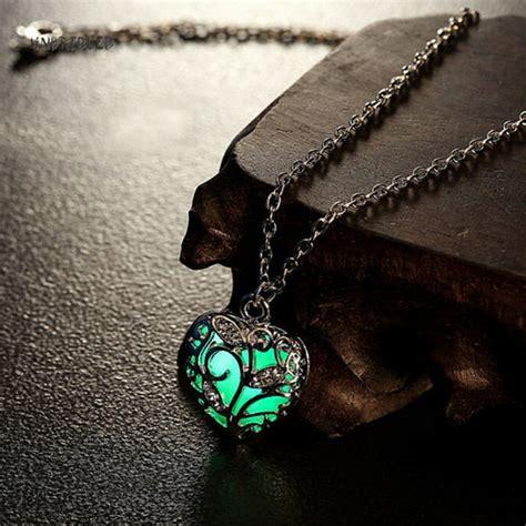 glowing heart necklace thedashikicom