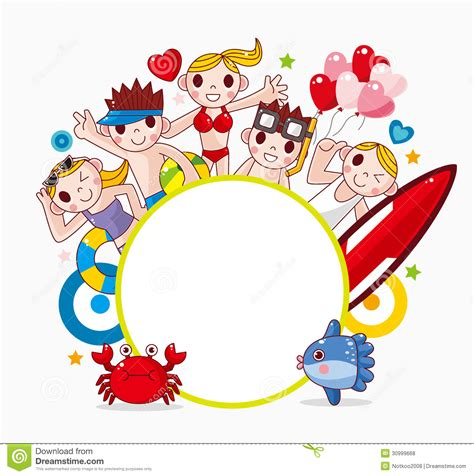 picture illustration summer party frame royalty free stock photos image 30999668