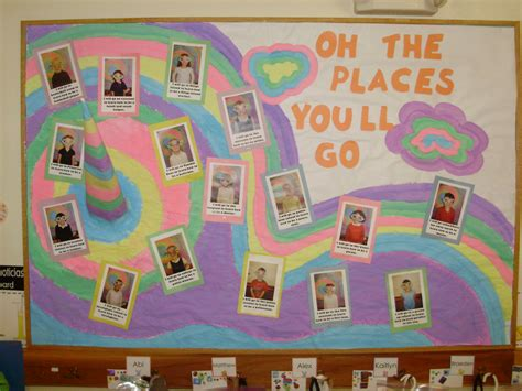 themes kindergarten graduation oh the places you ll go bulletin boards