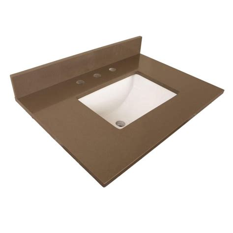 30 inch vanity top with sink bellaterra 30 inch w quartz vanity top in taupe with