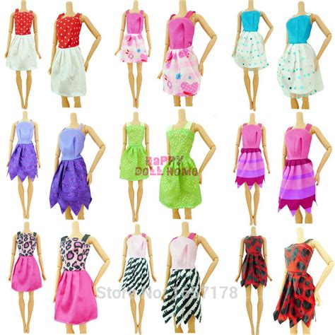 10x Kid Mini Dress Dolls Fashion Clothes Mixed Style For Pa handmade dress shoes reviews shopping handmade