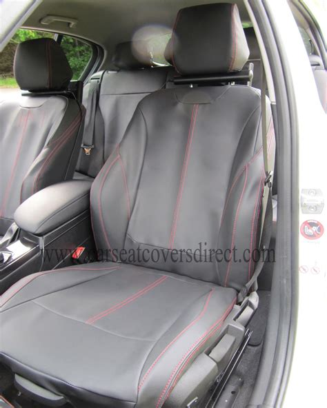 what is leatherette seat upholstery bmw 1 series f20 black leatherette with red stitching seat