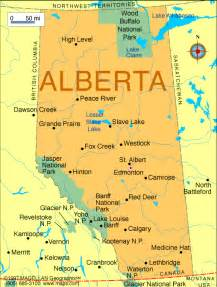 map of canada alberta map of canada city geography