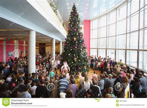 new year 2015 cultural plaza gather at new year tree editorial image image