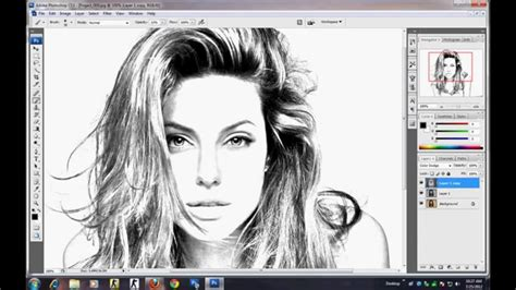 how to draw doodle in photoshop photoshop tutorial how to make sketch using image