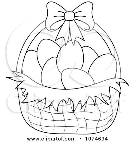 Kaos Bunny And Egg Basket Drawing 90 easter egg basket drawing easter egg basket drawing