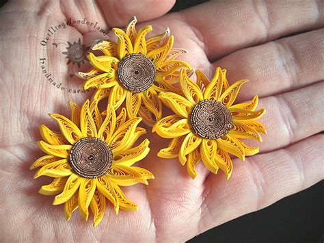 quilling sunflower tutorial quilled mini sunflowers picture framed paper art