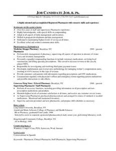Pharmacist Resume Template Pharmacist Resume Examples Latest Resume Format