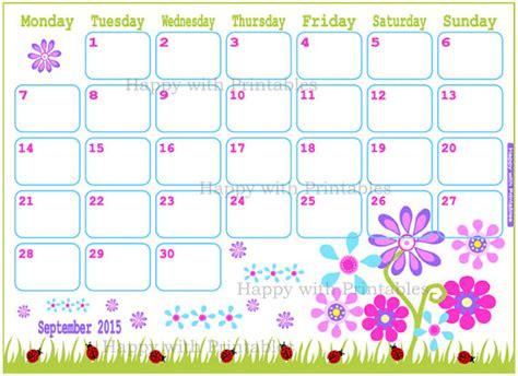 printable monthly planner 2015 september 8 best images of free cute printable calendars september