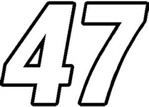 Family Wall Art Stickers nascar decals 47 race number switzerland font decal