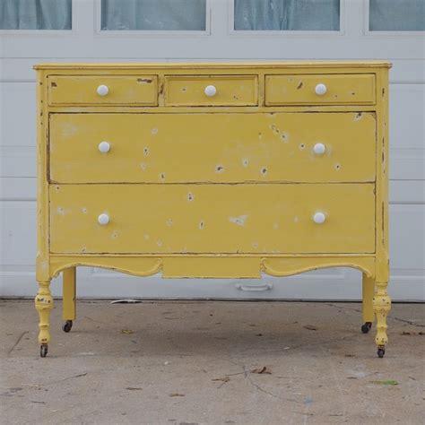 Yellow Dresser by Vintage Shabby Yellow Dresser House