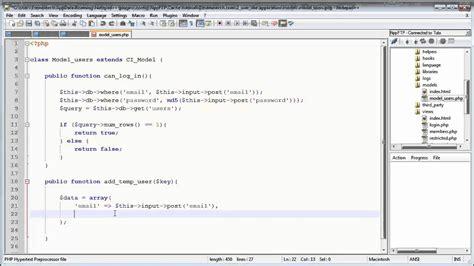 codeigniter tutorial for login codeigniter tutorials registration login part 11 13