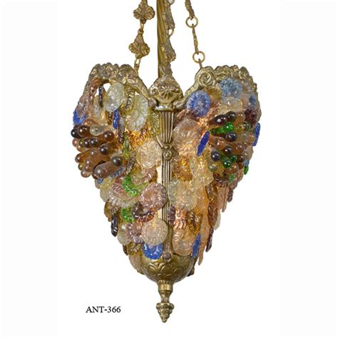Victorian Style Edwardian Fruit Glass Pendant Ceiling Fashioned Chandeliers