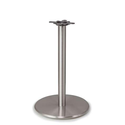 argent 22 satin chrome table base tablebases com